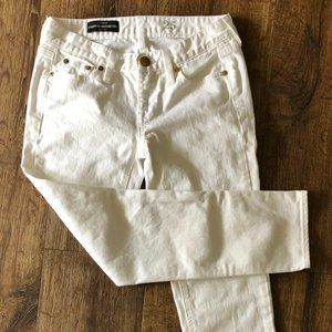 J. Crew Cropped Matchstick Jeans White Sz. 25